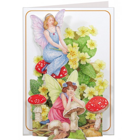 3-D Fairies and Mushrooms Card ~ England