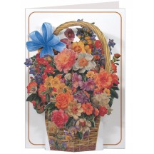 3-D Flower Basket Card ~ England