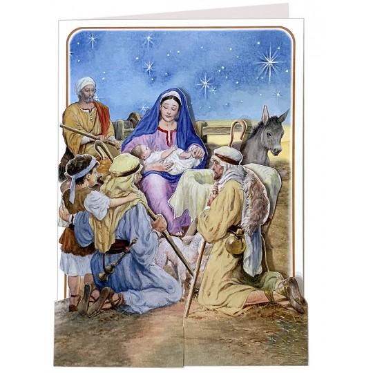 3-D Christmas Nativity Card ~ England