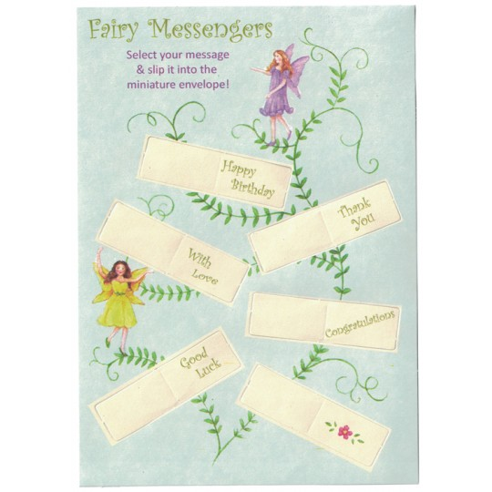 Purple Iris Fairy Messenger Glittered 3-D Card ~ England