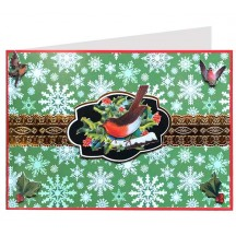 Christmas Bird 3-D Christmas Card ~ England