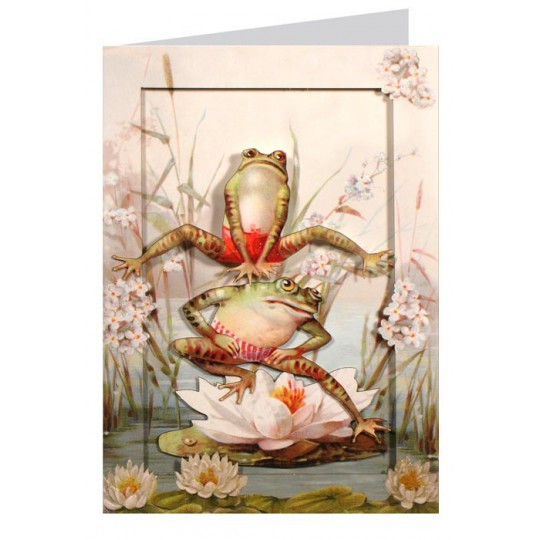 Lilypad Leap Frogs 3-D Card ~ England