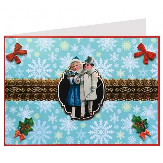Victorian Children 3-D Christmas Card ~ England