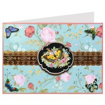 Butterflies and Roses 3-D Card ~ England