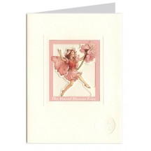 The Almond Blossom Fairy ~ Flower Fairies Window Card ~ England