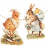 Chick and Bunny Easter Scrap Garland ~ England