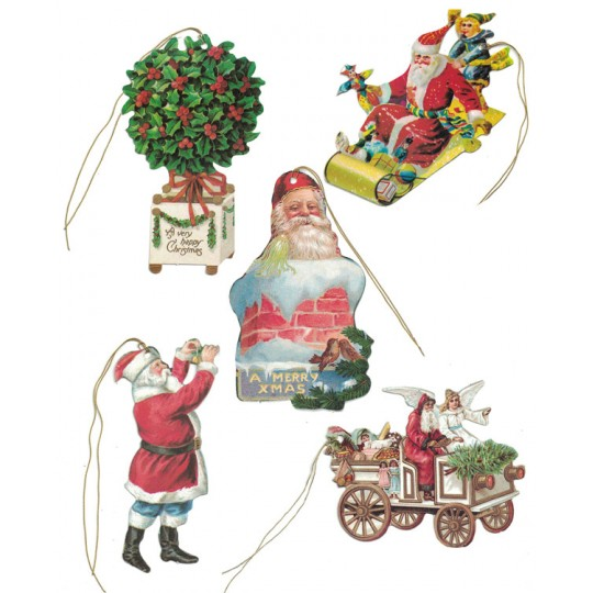 Set of 5 Extra Large Mixed Christmas Gift Tags ~ England