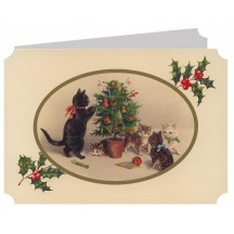 Cats with Tree Catland Christmas Card ~ England