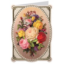 Butterfly Rose Bouquet 3-D Card ~ England