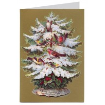 Christmas Birds 3-D Christmas Card ~ England