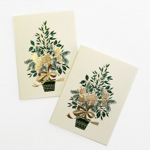 Petite Pine Cone Tree Gift Cards ~ Set of 2 ~ Rossi Italy