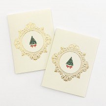 Petite Tree in Frame Gift Cards ~ Set of 2 ~ Rossi Italy