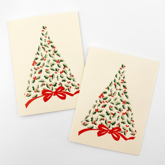 Petite Christmas Tree Gift Cards ~ Set of 2 ~ Rossi Italy