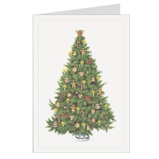 Traditional Tree Italian Christmas Card ~ Rossi Italy