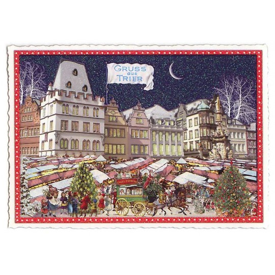 Treir Christmas Market Large Postcard ~ Germany