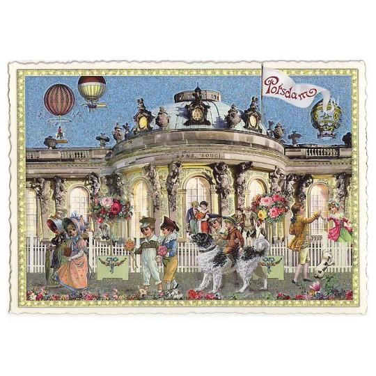 Sans Souci Potsdam Large Postcard ~ Germany