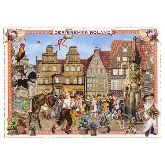 Bremertown Musicians Large Postcard ~ Germany