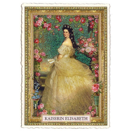Empress Elizabeth with Roses Large Postcard ~ Germany