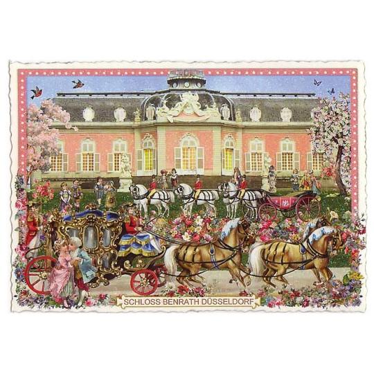 Schloss Benrath in Düsseldorf Large Postcard ~ Germany