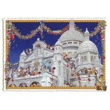 Valentine Sacre Coeur Basilica Large Paris Postcard ~ Germany