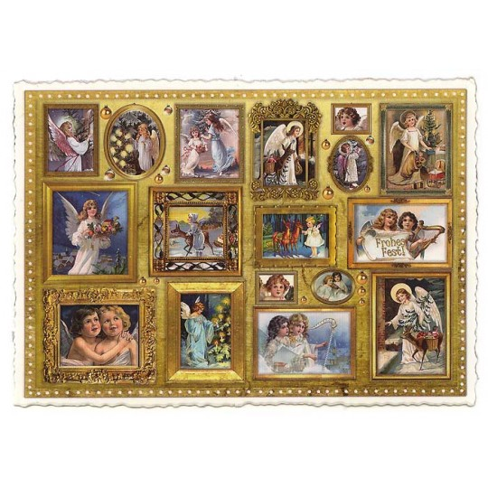 Victorian Angels in Frames Large Postcard ~ Germany