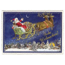 Santa's Sleigh Large Postcard ~ Germany
