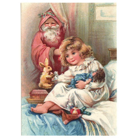 Child with Toys XL Embossed Christmas Postcard ~ Germany