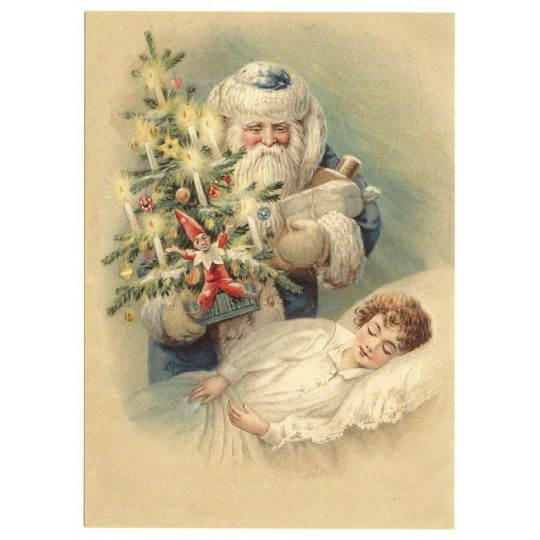 Christmas Dreams XL Embossed Christmas Postcard ~ Germany