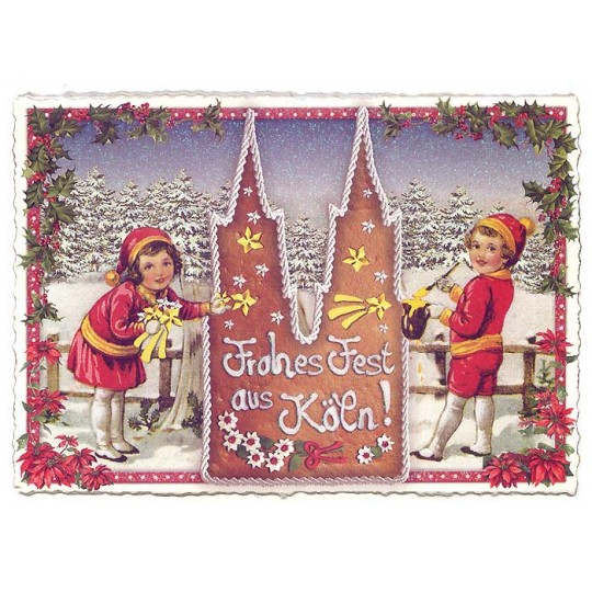 Koln Christmas Lebkuchen Large Postcard ~ Germany