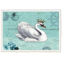 Regal Swan Collage Postcard ~ Germany