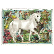 White Horse Collage Postcard ~ Germany
