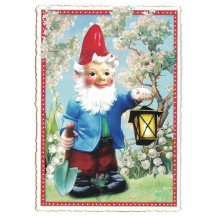Garden Gnome Postcard ~ Germany