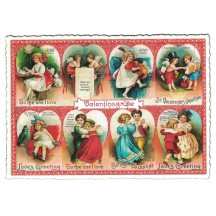 Large Vintage Valentine Hearts Valentine Postcard ~ Germany