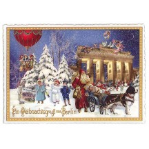 Christmas Greetings from Berlin Large Postcard ~ Germany