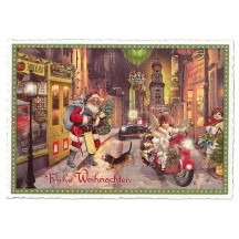 Hamburg Christmas Greetings Large Postcard ~ Germany
