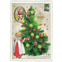 Angel Christmas Tree Postcard ~ Germany