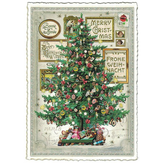 Christmas Tree Large Postcard ~ Germany
