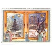 Munich Christmas Angels Large Postcard ~ Germany