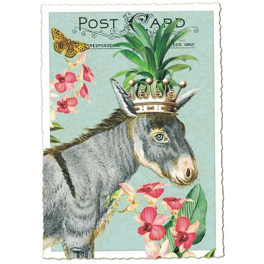 Burro Collage Postcard ~ Germany
