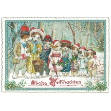 Fancy Dogs Christmas Postcard ~ Germany