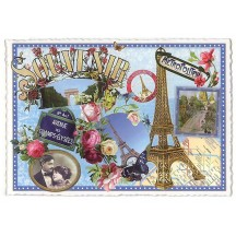 Paris Souvenir Collage Large Postcard ~ Germany