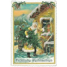 St. Nicholas Christmas Postcard ~ Germany