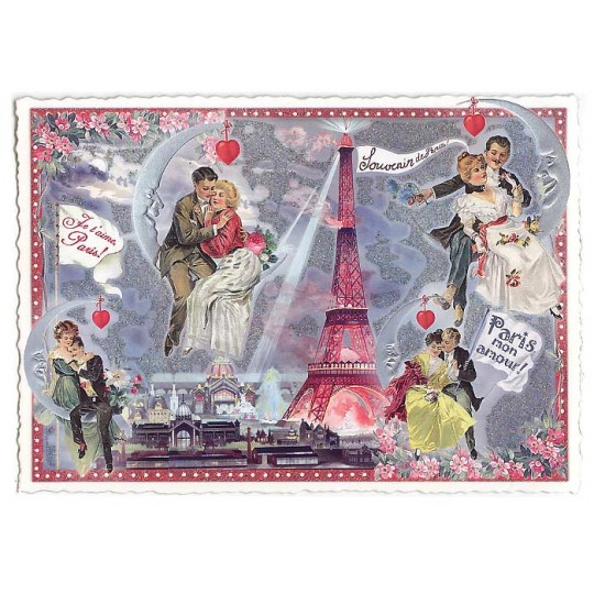 Paris Valentines Large Postcard ~ Germany