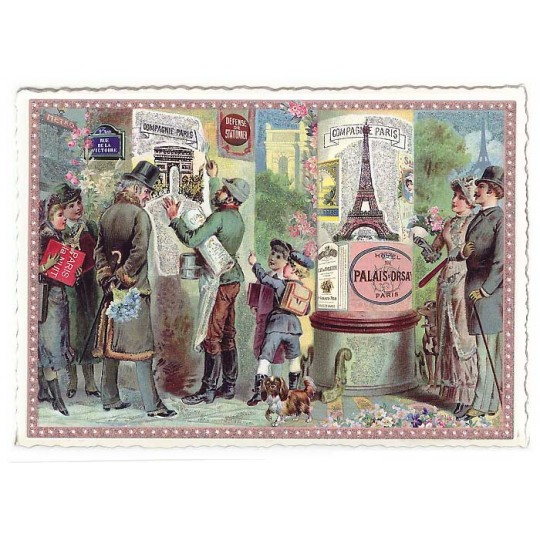 Paris Victorian Posters Large Postcard ~ Germany