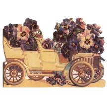 Victorian Pansy Auto Notecard