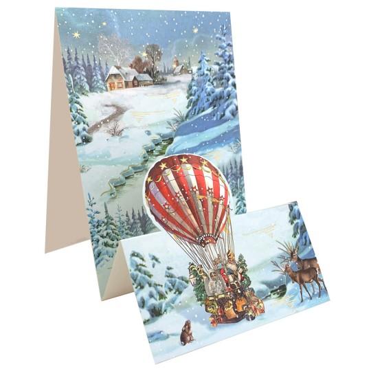 Hot Air Balloon Pop Up Christmas Card ~ Germany