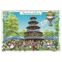 Munich English Garden Postcard ~ Germany