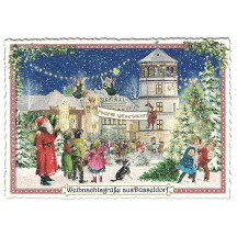 Dusseldorf Christmas Postcard ~ Germany