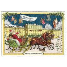 Vienna Schloss Schonbrunn Christmas Postcard ~ Germany