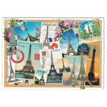 Eiffel Tower Paris Collage Postcard ~ Germany